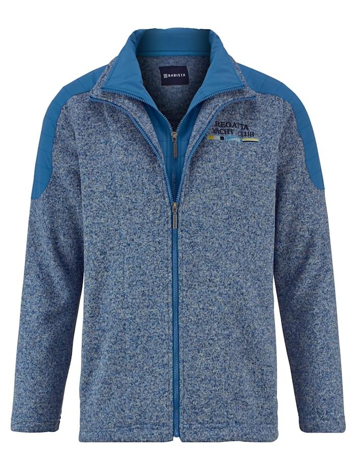 BABISTA Fleece vest met bies binnenin, Blauw