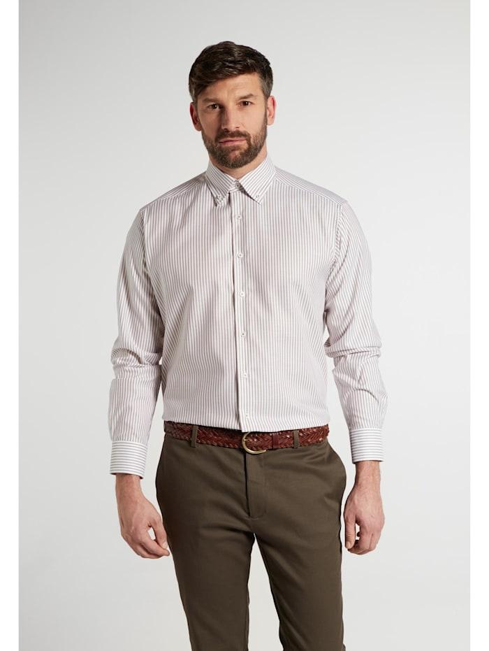 Eterna Eterna Langarm Hemd COMFORT FIT Eterna Langarm Hemd COMFORT FIT, beige/weiss