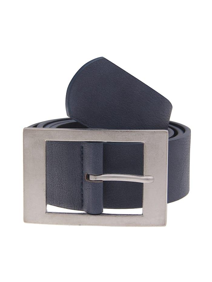 Leslii Ledergürtel im trendigen Business-Design, blau