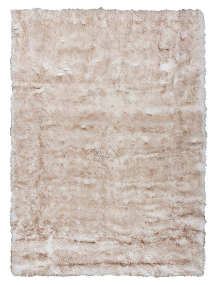 Kayoom Handtufteppich 'Maik', Beige/Braun