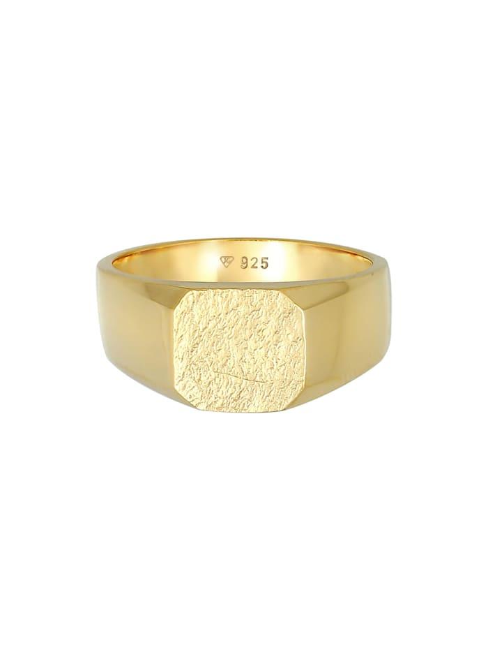 Ring Basic Siegelring Herren Quadrat Matt 925 Silber