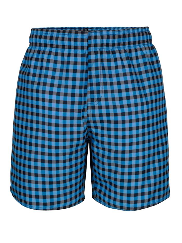 Maritim Shorts de bain par lot de 2 à carreaux, Bleu/Marine