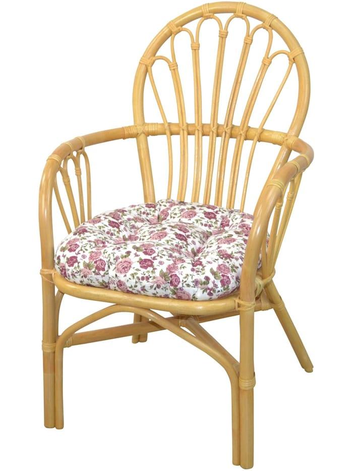 Möbel-Direkt-Online Rattansessel mit Kissenauflage Conny, beige