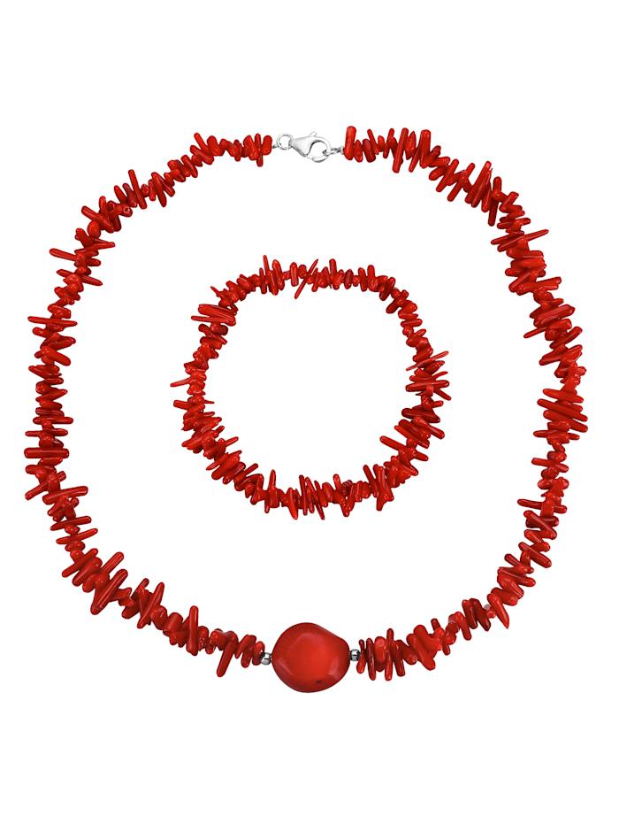 2-delige sieradenset, Rood