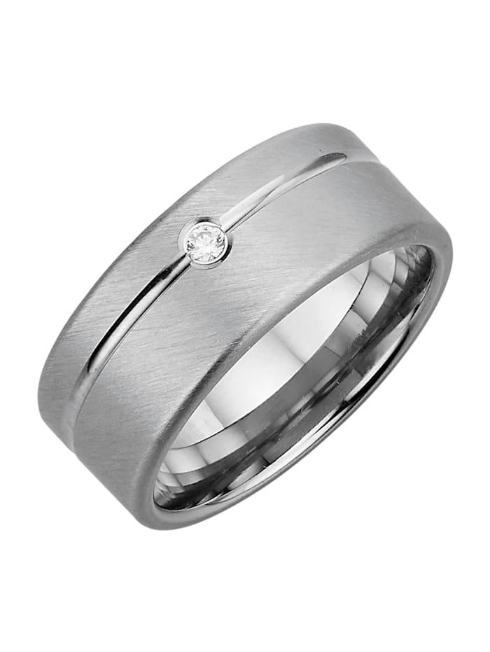 Harmony Trauring in Silber 925, rhodiniert, Silberfarben