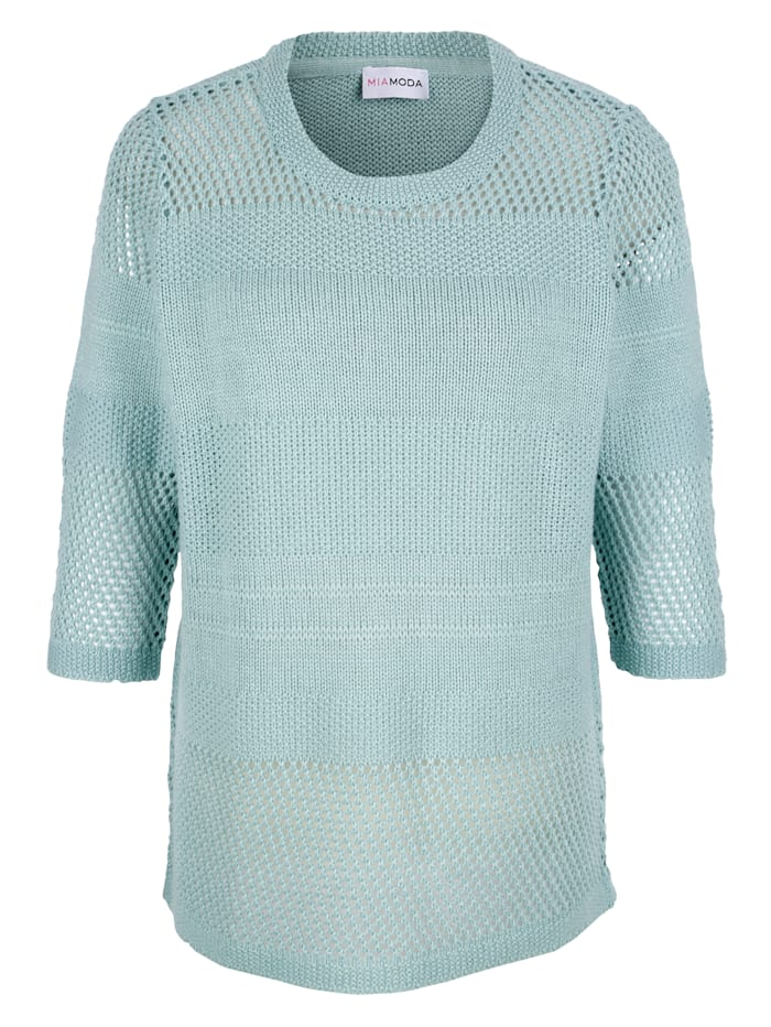Pull-over en maille fantaisie