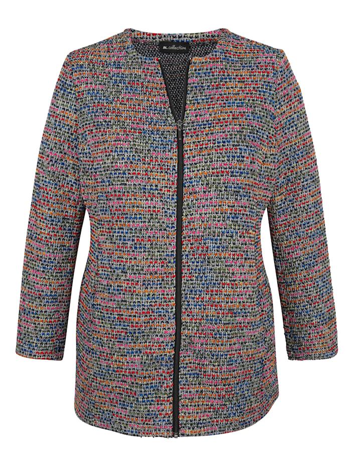 m. collection Jacke aus Bouclé-Garn, Multicolor
