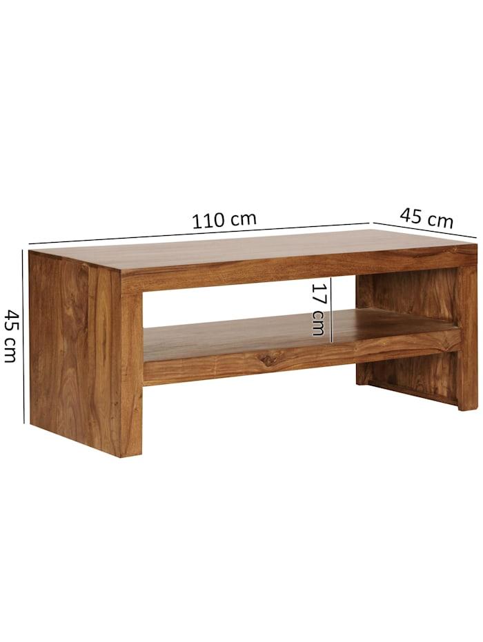 Couchtisch Massiv-Holz Durban 110 cm breit Wohnzimmer-Tisch braun Landhaus-Stil Beistelltisch