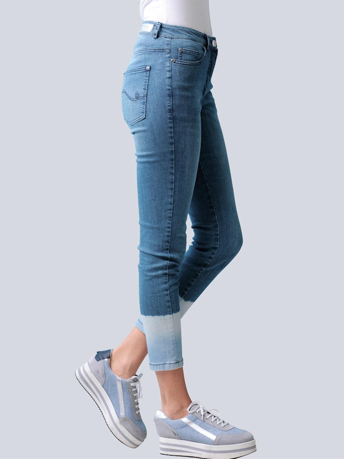 Jeans me tmodieus batikeffect