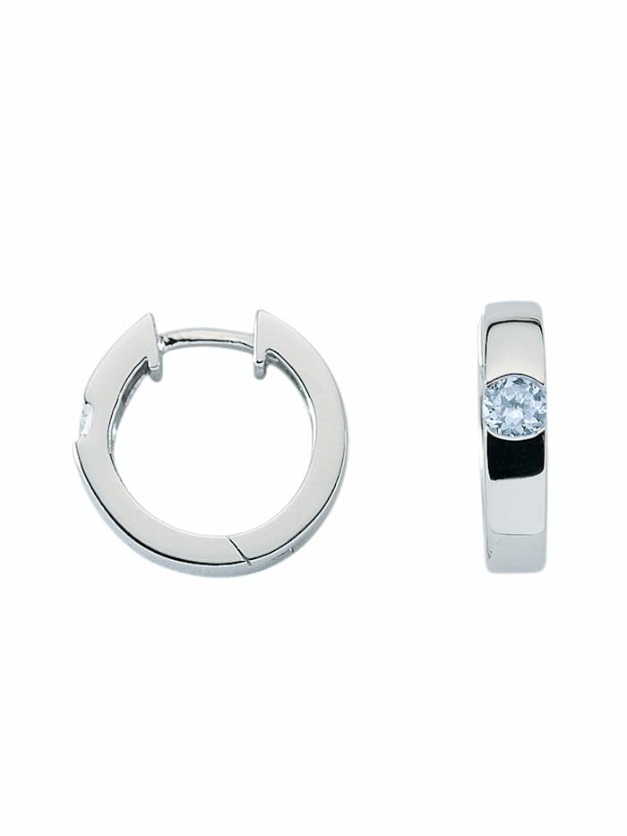 1001 Diamonds 1001 Diamonds Damen Silberschmuck 925 Silber Ohrringe / Creolen mit Zirkonia Ø 15,4 mm, bunt