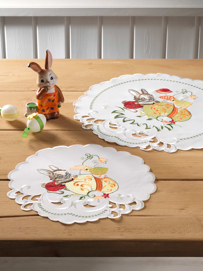 "Webschatz Linge de table ""Elfie"", Champagne/multicolore"