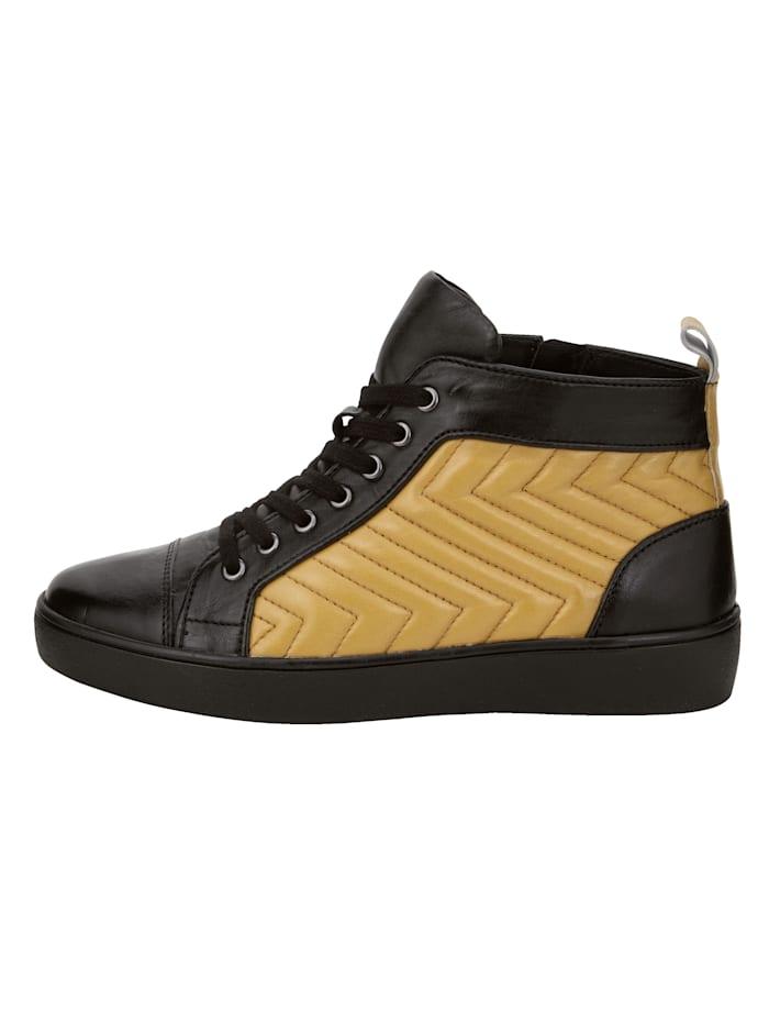High Sneaker aus handschuhweichem Lammnappaleder