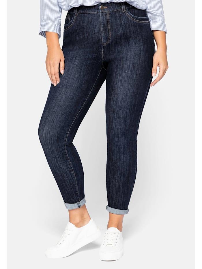 Sheego Jeans Bi-elastisch, dark blue Denim