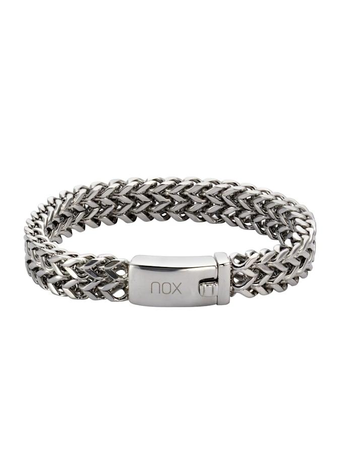 nox Armband Edelstahl 19cm Glänzend, Silbergrau
