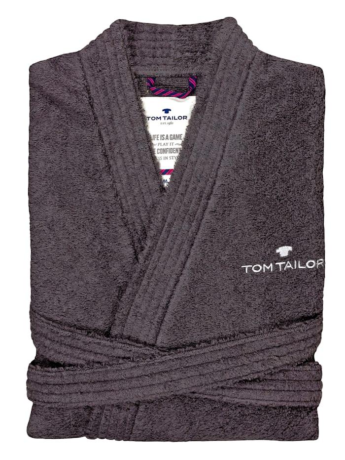 Tom Tailor Bademantel Kimono Catania, dunkel grau