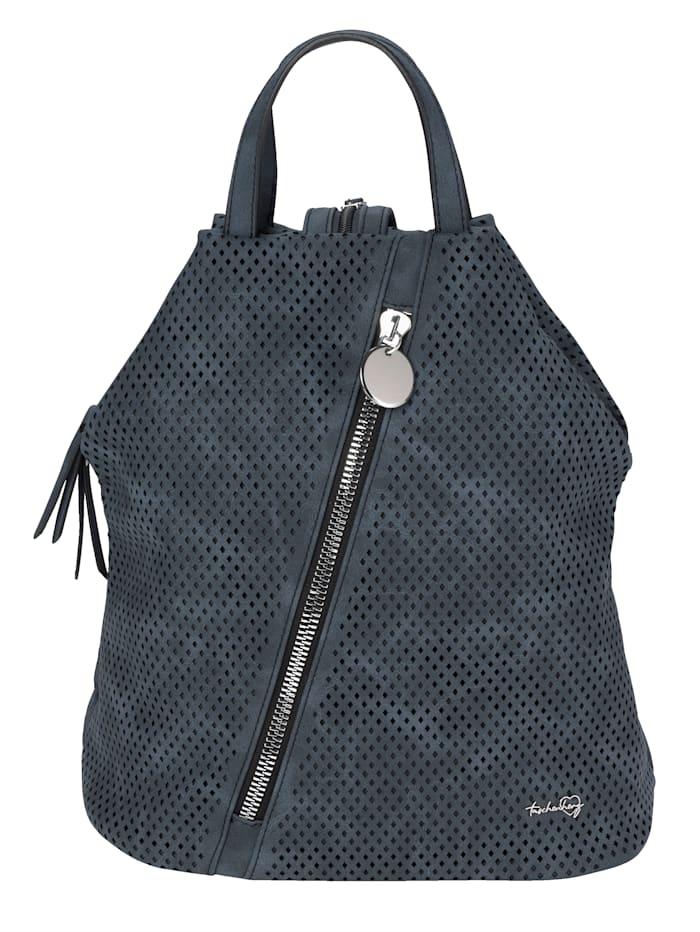 Taschenherz Rucksack mit Perforation, marine