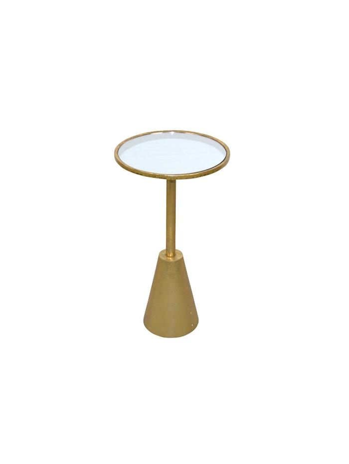 Möbel-Direkt-Online Beistelltisch Linda, antik goldfarben