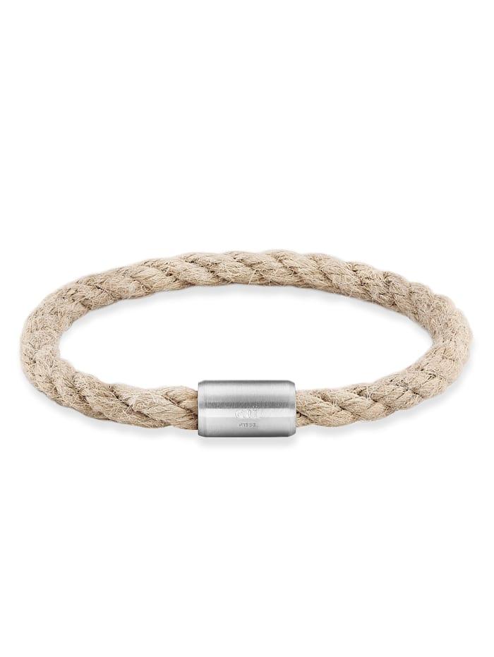 CAI Armband Edelstahl ohne Stein 23cm Glänzend, natur