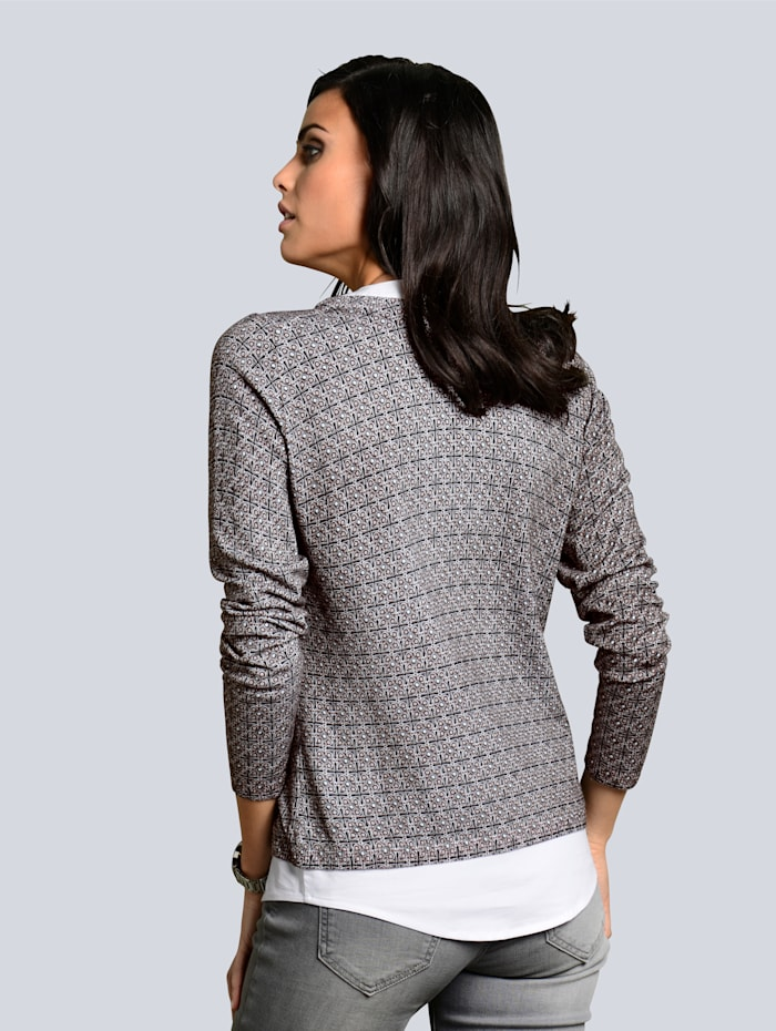 Pullover mit  exclusivem Alba Moda-Minimalprint