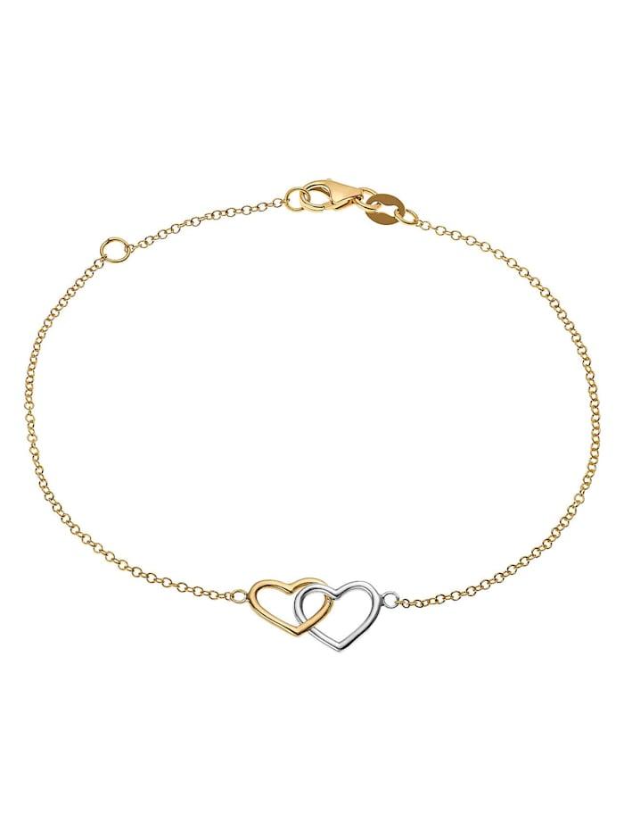 CHRIST GOLD CHRIST Gold Damen-Armband 375er Gelbgold, 375er Weißgold, gold