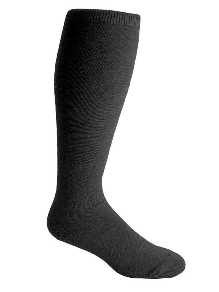 H&B Strumpf XXL-comfortkniekousen van elastisch materiaal, Zwart