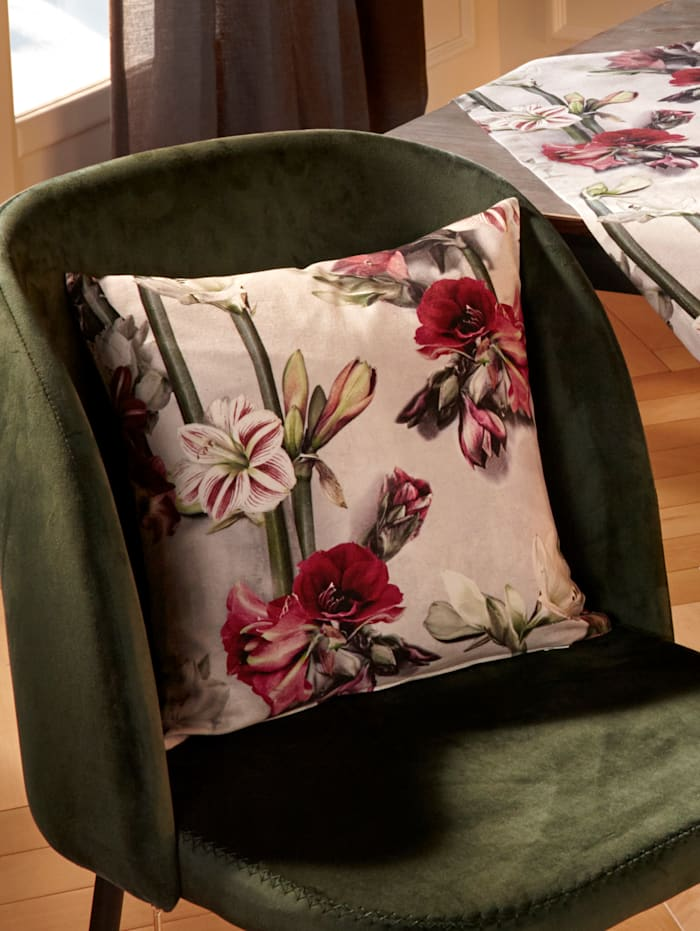 Apelt Housse de coussin 'Fleurs', Multicolore