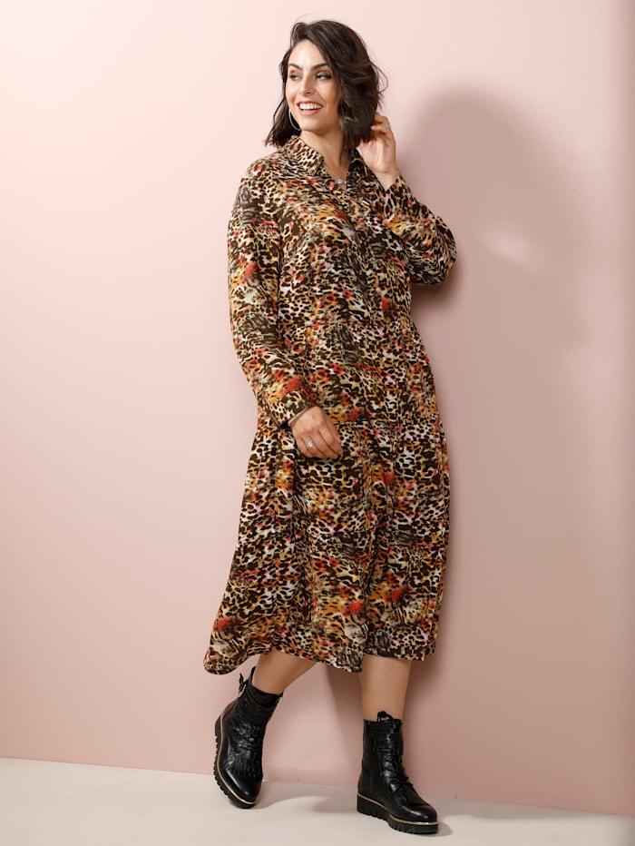 MIAMODA Jurk met vrouwelijke overhemdkraag, Multicolor