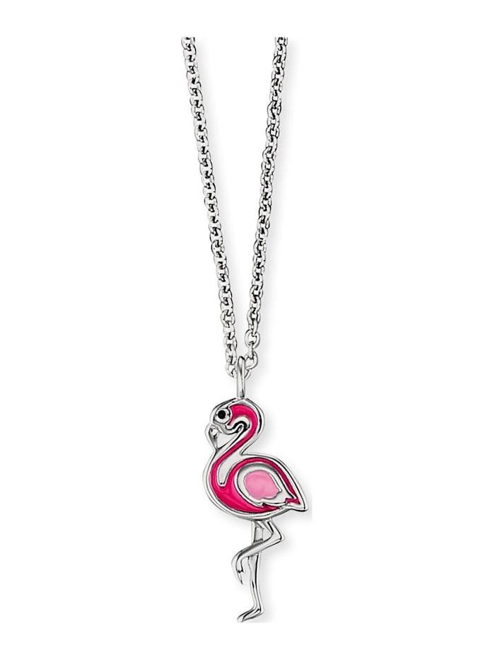 Engelsrufer Engelsrufer Mädchen-Kinderkette Flamingo 925er Silber, silber