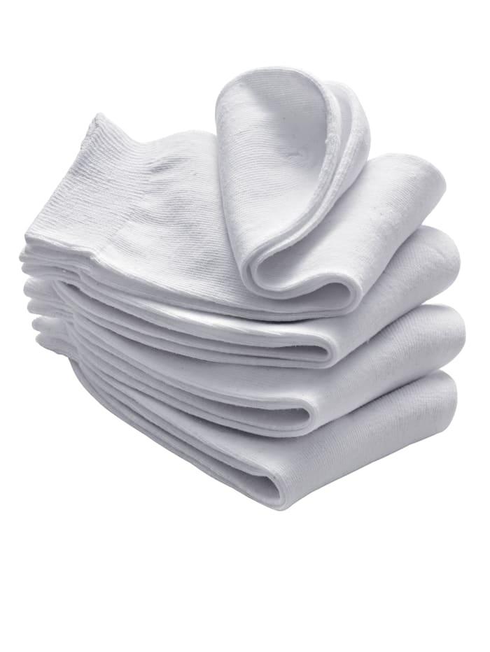 Paires de chaussettes femme, blanc, Blanc