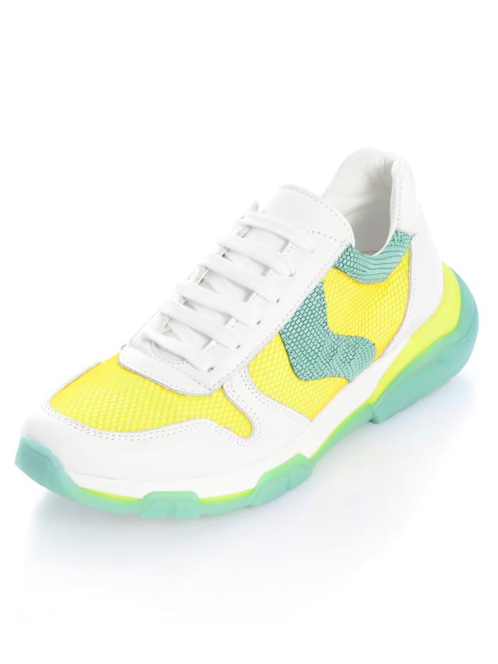 Alba Moda Sneaker mit Netzmaterial, Weiß