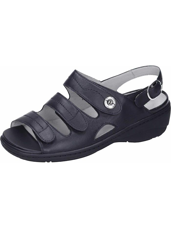 Waldläufer Sandalen/Sandaletten, schwarz