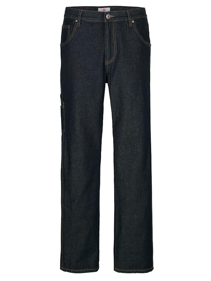 Boston Park Jeans med benficka, Dark blue