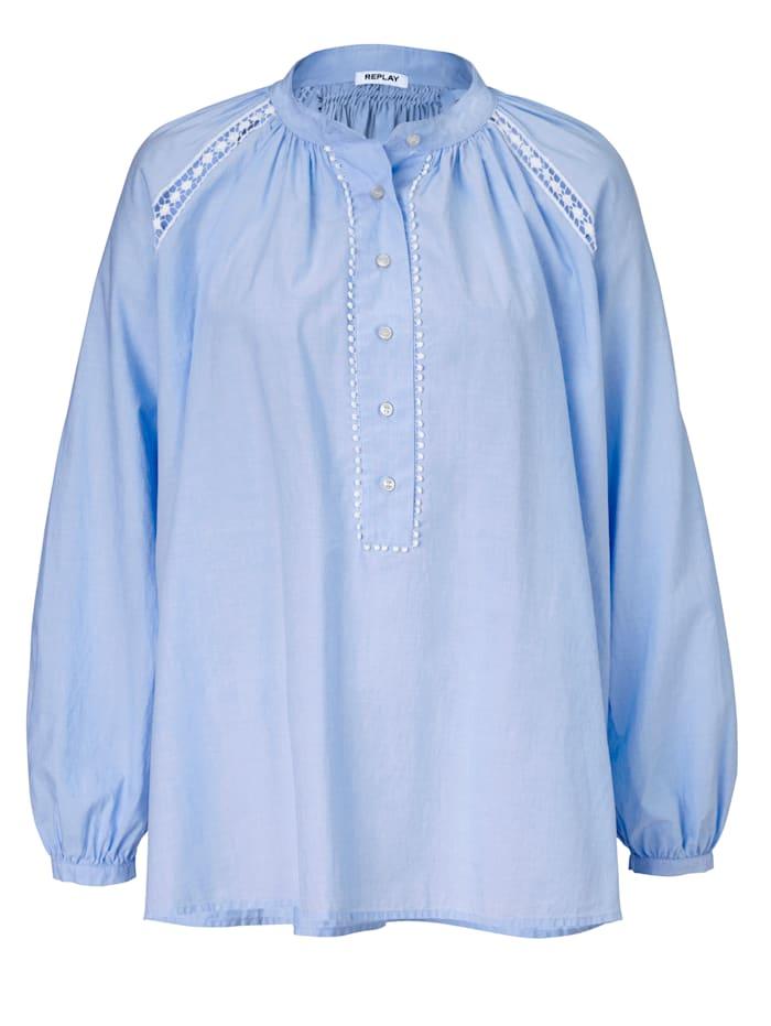 REPLAY Bluse, Blau