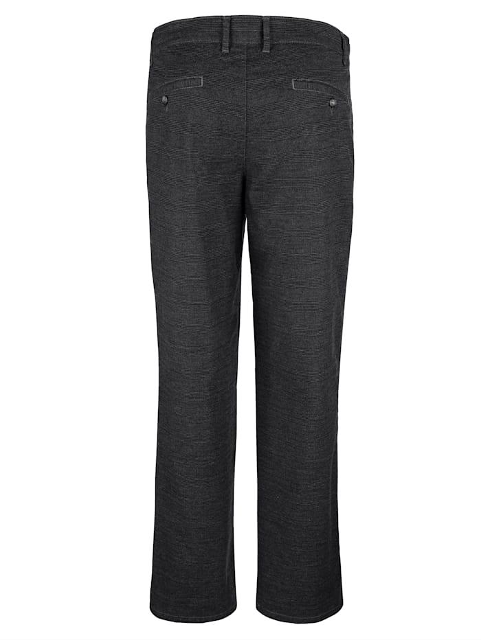 Pantalon sans pinces d'aspect laine