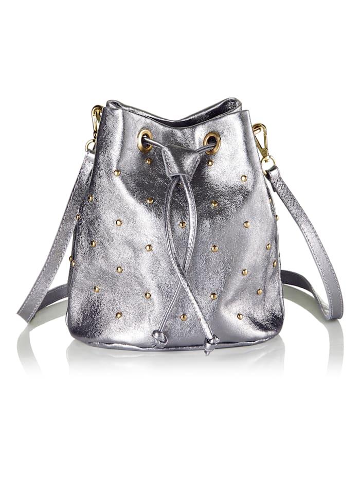 SIENNA Bucket-Bag, Silberfarben