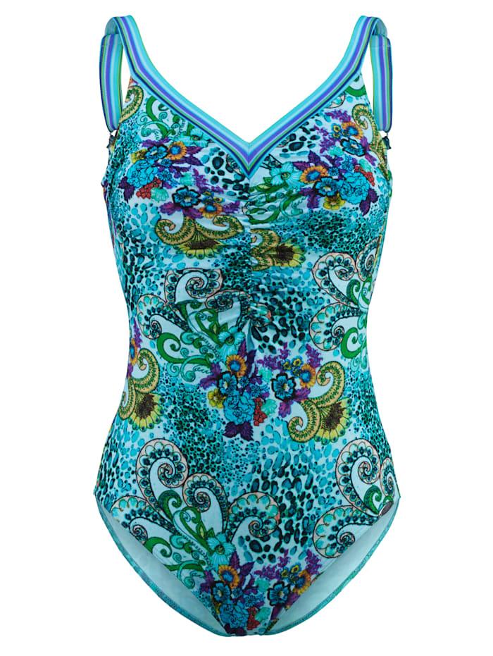 Sunflair Badpak met paisleydessin, Turquoise