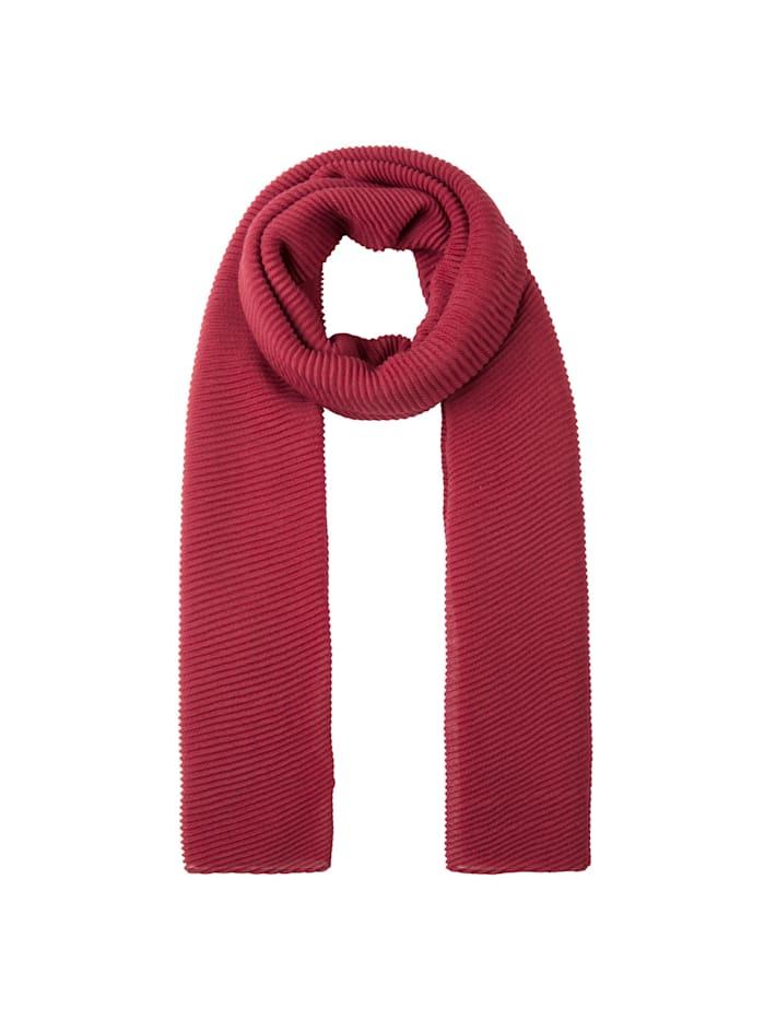 Codello Ultrasofter Plissee-Schal aus recyceltem Polyester, burgundy