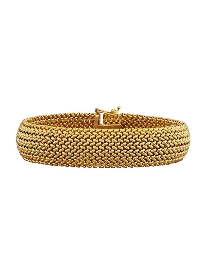 Amara Or Bracelet maille milanaise en or jaune 585, Coloris or jaune