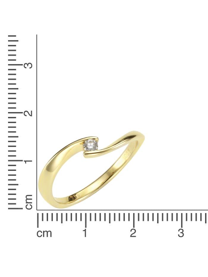 Ring 750/- Gold Brillant weiß Brillant Glänzend 0,06ct. 750/- Gold