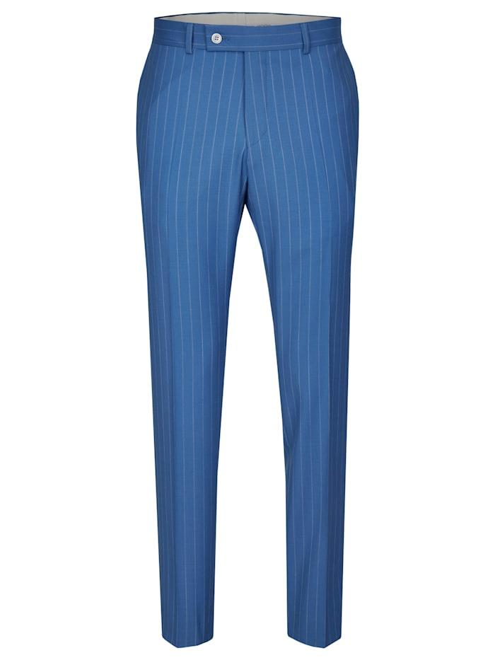 Daniel Hechter Edle Anzug-Hose in angesagter Streifen-Optik, steel blue