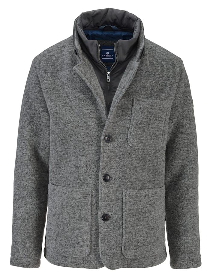 Veste en laine à bordure intérieure amovible