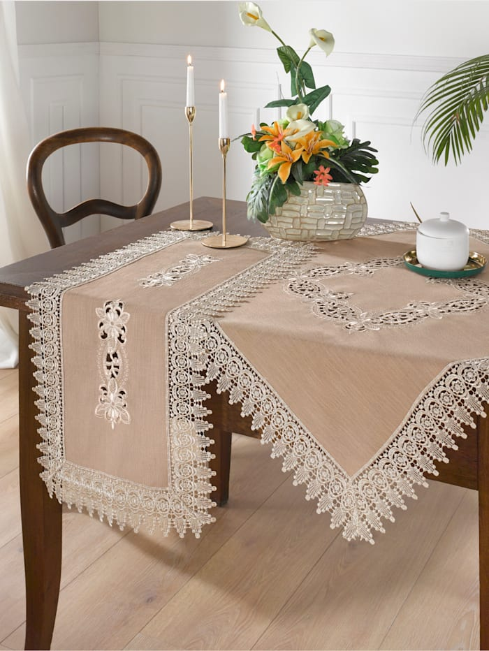 "Webschatz Linge de table ""Helene"", Beige"