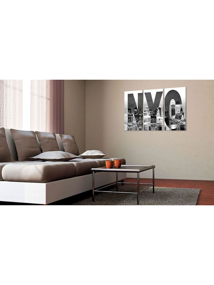 Wandbild New York (schwarz-weiß)