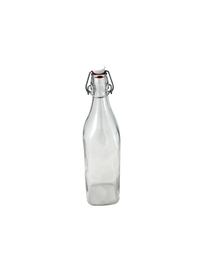 Neuetischkultur Glasflasche mit Bügelverschluss, Transparent