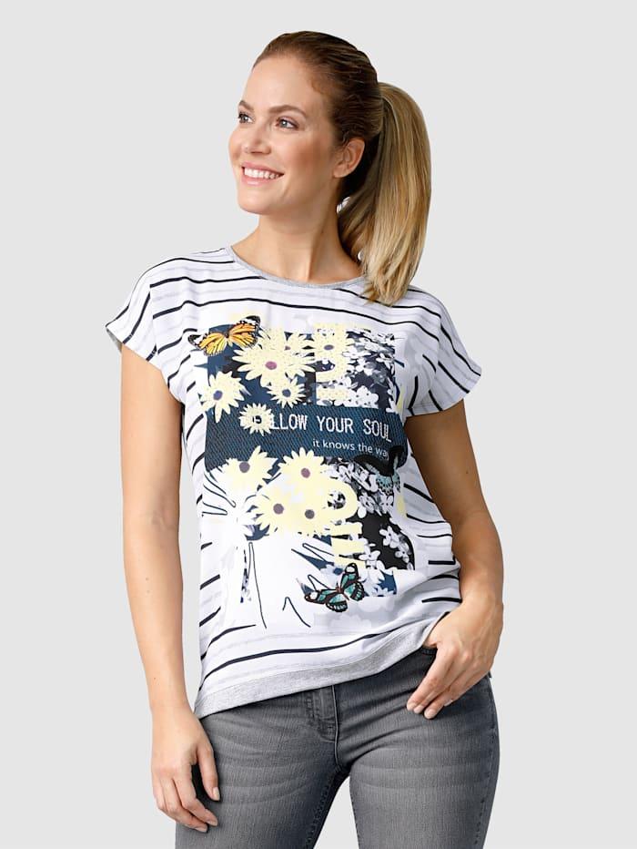 Shirt mit Steinchenzier