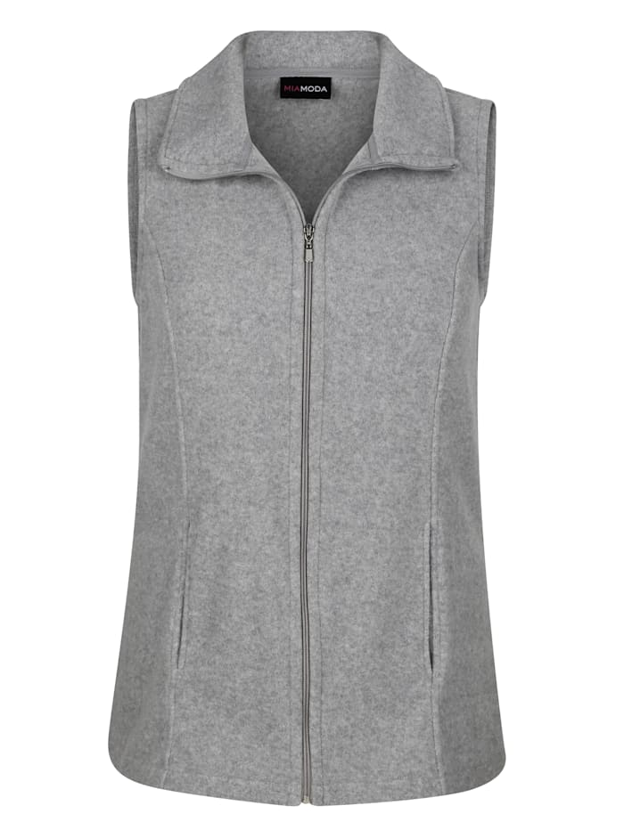 MIAMODA Fleeceweste mit praktischen Taschen, Grau