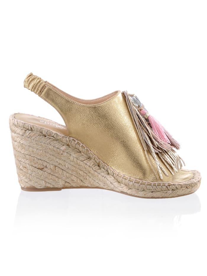 Sandalette in leicht glänzender Metallic-Optik