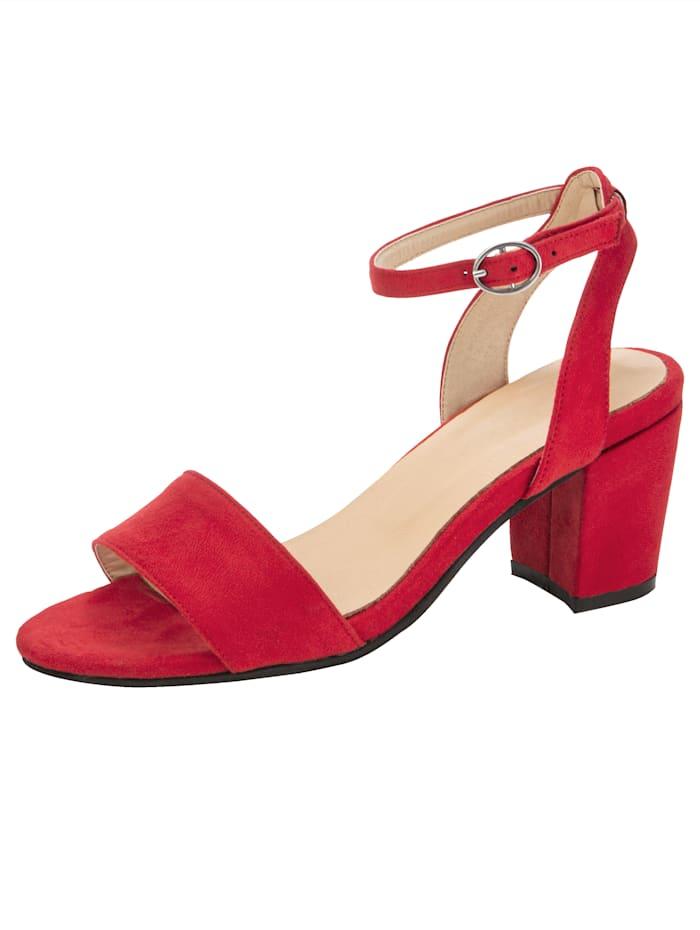 Sandales au look tendance, Rouge