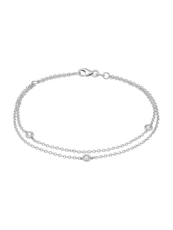 CHRIST Diamonds CHRIST Diamonds Damen-Armband 585er Weißgold 3 Diamant, weißgold