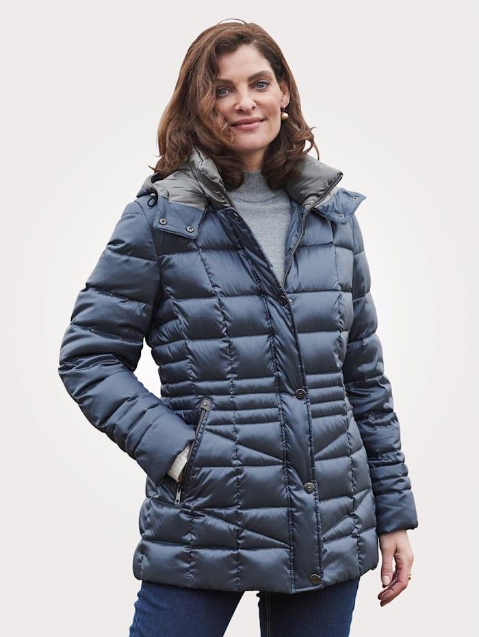 Barbara Lebek Páperová bunda s peknou potlačou podšívky, Ľadová modrá